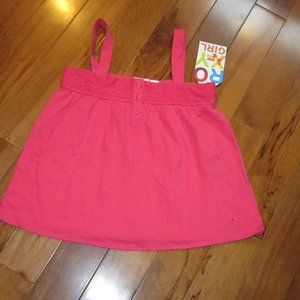 roxy girls summer top in fuschia size med nwt
